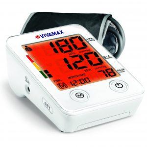 Szines kijelzős felkaros vérnyomásmérő adapter opcióval